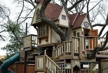 Tree houses and cubby houses and tents to play in