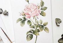 Роза- идея для вышивки миниатюры