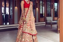 Bridal Lehenga / Zari work or thread work, floral prints or geometrical patterns, silver work or gold work, you will find all your choices here. Follow this board.