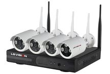 LS Vision Wifi NVR System / LS Vision 4CH / 8ch 720P 960P 1080P Wireless Wifi NVR System with 4pcs / 8pcs IR Bullet CCTV Cameras.