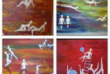 My paintings, food etc ♡