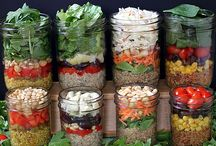 Salads in glass