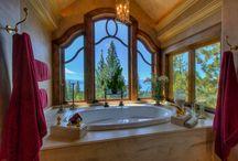 Gorgeous Tahoe Bathrooms / Beautiful bathrooms around Lake Tahoe
