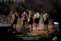 """Horse Racing Paintings, Prints and Posters / Horse racing painting titled """"The Long Shot""""  Acrylic on Canvas 36"""" x 48"""" Twitter follow @edgarjbrown"""