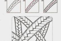 vzorník zentangle