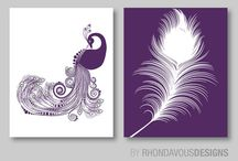 Purple & blue artwork