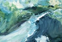 Seascape Inspiration / Seascape | Water | Waves | Reflections | Ships | Shore | Beach | Impressionist | Oil Paintings | Art