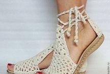 sandale crosetate