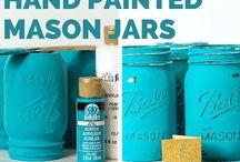 Festett befőttes üvegek/Painted mason jars