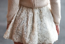C as in Cute / white, lace