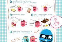 recette enfant cookies dans un mug