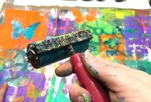 Carolyn Dube and other gelli printing stuff