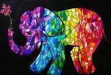 Mozaic elephant