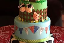 Diseños de Tortas granja