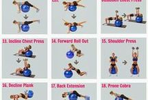 Stability ball workout / Home workout, stability ball, strength workout, ladies workout, home exercise