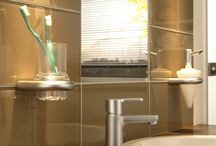Gorgeous Glass Tile Bathrooms / These are some bathroom installations using our glass tiles.