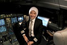 Pilot use Hijab