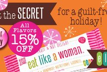Eat Like a Woman® Nutrition Bars / Women lose weight differently than men. Nutrition bars created for a woman's metabolism that are yummy, all natural ingredients and gluten-free!