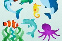 ocean animal room