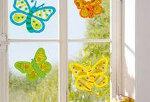 Fensterbilder basteln