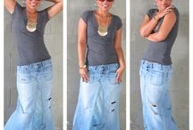 Remaking jeans into a skirt