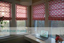 DIY no sew roman blinds