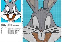 Looney Tunes cartoon free cross stitch patterns / Looney Tunes cartoon free cross stitch patterns