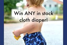 Giveaways! / We love giving away our handmade diapers so you can try them! Be sure to follow our newsletter, Facebook, and Pinterest for giveaway alerts!