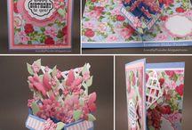 Card flower pot pop up
