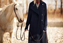 fashion&horse / fashion model&horse, horse&fashion model