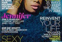 Jennifer Hudson, Essence mag / Jennifer Hudson wears Susan Hanover cuff on the cover of Essence magazine January 2014 issue.
