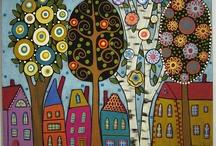 Ilustrações de Karla Gerard / Obras pintadas de Karla Gerard