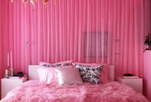 pink / pink home decor and interiors room inspiration