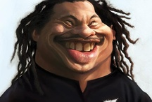 Rugby Players Caricatures