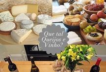 CHEESE AND WINE Queijos e vinhos! / Como montar uma mesa de queijos e vinhos, como combinar o vinho com o queijo, acompanhamentos, decoração.Petiscos.