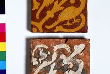 pottery - tiles / Pre-1600 tiles. Mostly inlaid medieval tiles.
