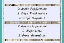 Aromatherapy blends / Many different aromatherapy recipes for different ailments