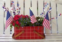 Holiday/Seasonal - 4th of July / red, white, and blue, decorations for patriotic celebrations