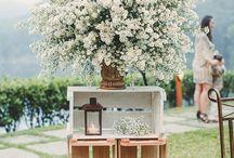 Casamento / Inspirações para o meu casamento! Com decoração rústica e floral.