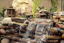 Flagstone water feature