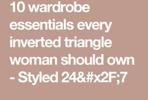 ~ Inverted Triangle Body Style~