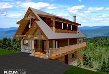 1763 sq ft Sunshine Valley / February Plan of the Month-We just completed this design and drafted construction set of plans for this steep terrain vacation chalet to be built as a log post and beam structure.
