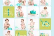 Brooks Smash Cake/ 1 yr picture ideas / by Jennifer Fuqua