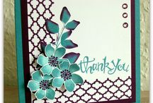 summer silhouette stamping / by Sandy Mauck