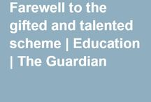 Gifted & Talented Education / A collection of sites, resources, readings etc about GaTE education.