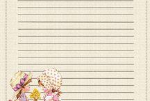 Papéis de carta/notepaper