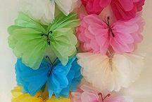 mariposas de papel seda