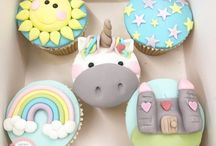 Cup cakes toppers