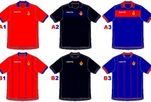 Design Football / Diseño de camisetas y escudos de fútbol hechos por mi.