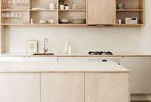 Plywood kitchen units